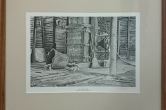 Don Rothnie - The old wool press (signed print) -