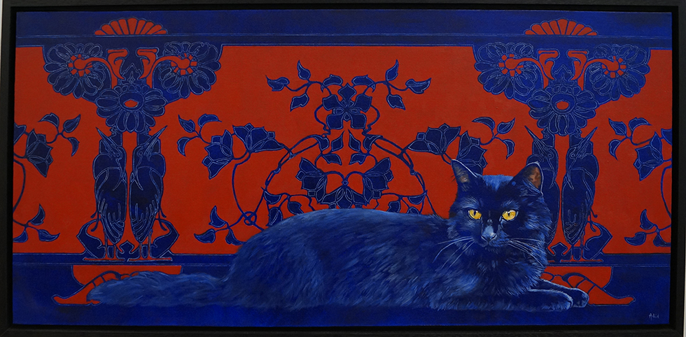 Astrid Bruning-le chat bleu-