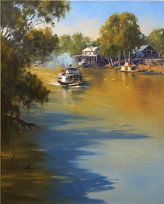 Ted-Lewis-Paddle-steamer-at-Echuca-