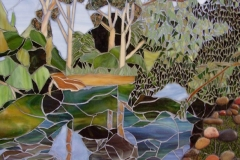 Susie Ross - Reflections on Ovens river -