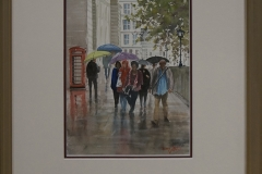Wet day London -
